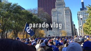 Chicago Cubs Championship Parade Downtown Chicago 2016 Vlog - World Series Champions #FlyTheW