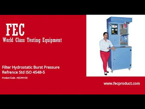 Oil Filter Test Rig As Per ISO 4548-1,2,3,4,5,6,9