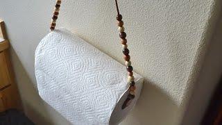 DIY Bohemian Paper Towel Holder