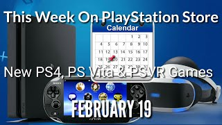 New Ps4, Ps Vr And Ps Vita Games For February 19