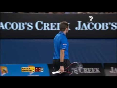 2011 Australian Open R4 Roddick vs Wawrinka