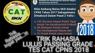 TRIK RAHASIA LULUS PASSING GRADE CAT CPNS 2018