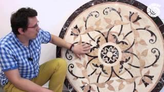 видео Мозаичные работы из натурального камня