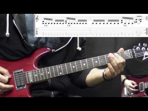 Gruesome - Demonized - Metal Rhythm Guitar Lesson (w/Tabs)