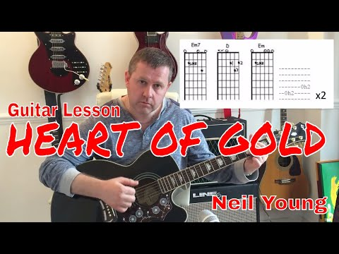 Neil Young - Heart Of Gold - Acoustic Guitar Tutorial (Chord Boxes)