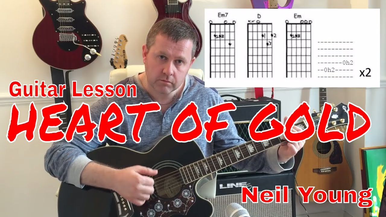 Neil Young Heart Of Gold Acoustic Guitar Tutorial Chord Boxes