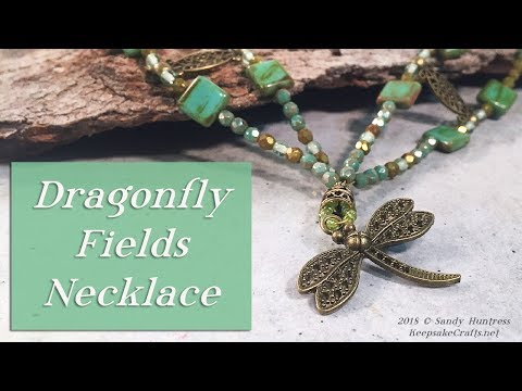 Dragonfly Fields Necklace- Shaped Beaded Multi-Strand Jewelry Design Tutorial