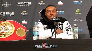 ERROL SPENCE'S FULL POST FIGHT PRESS CONFERENCE - SPENCE VS PETERSON