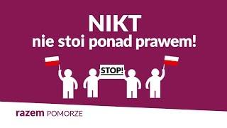Nikt nie stoi ponad prawem! Protest Razem w Gdyni