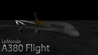 LeMonde A380 Flight! | Roblox