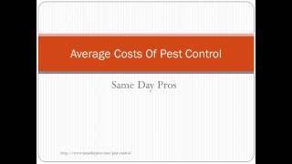 average cost for pest control services. Black Bedroom Furniture Sets. Home Design Ideas