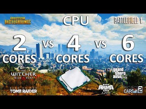 2 Cores vs 4 Cores vs 6 Cores CPU Test in 7 Games