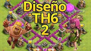 Diseño de Ayuntamiento nivel 6 | Diseño 2 | Clash of Clans