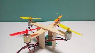 How to make a very Easy Flying Drone (Quadcopter) at Home