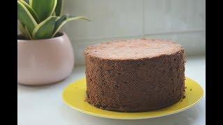 Cách làm bánh bông lan socola   how to make chocolate cotton cake