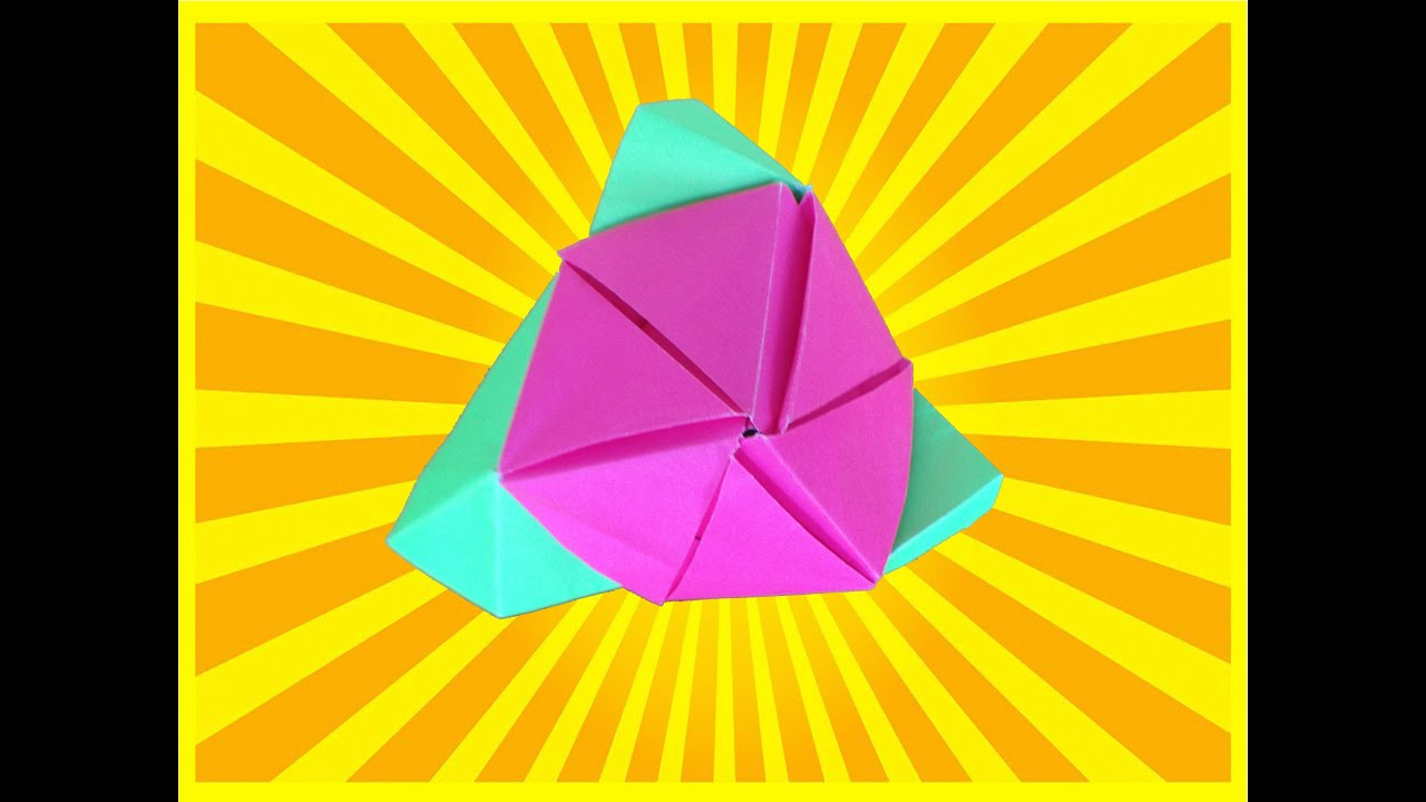 How To Make A Magic Origami Cube Rose Easy - DYI Simple ... - photo#34
