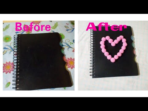 DIY glam to Diary - Part 1 | How to decorate the cover of Diary | Diary decoration ideas | Diary