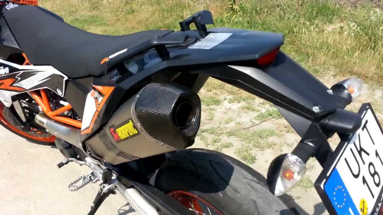 2013 ktm 690 smc r with akrapovic no db killer youtube. Black Bedroom Furniture Sets. Home Design Ideas