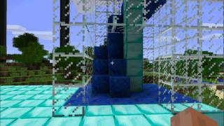 Minecraft Swimming pool with shower - water slide - and more by wortelpap