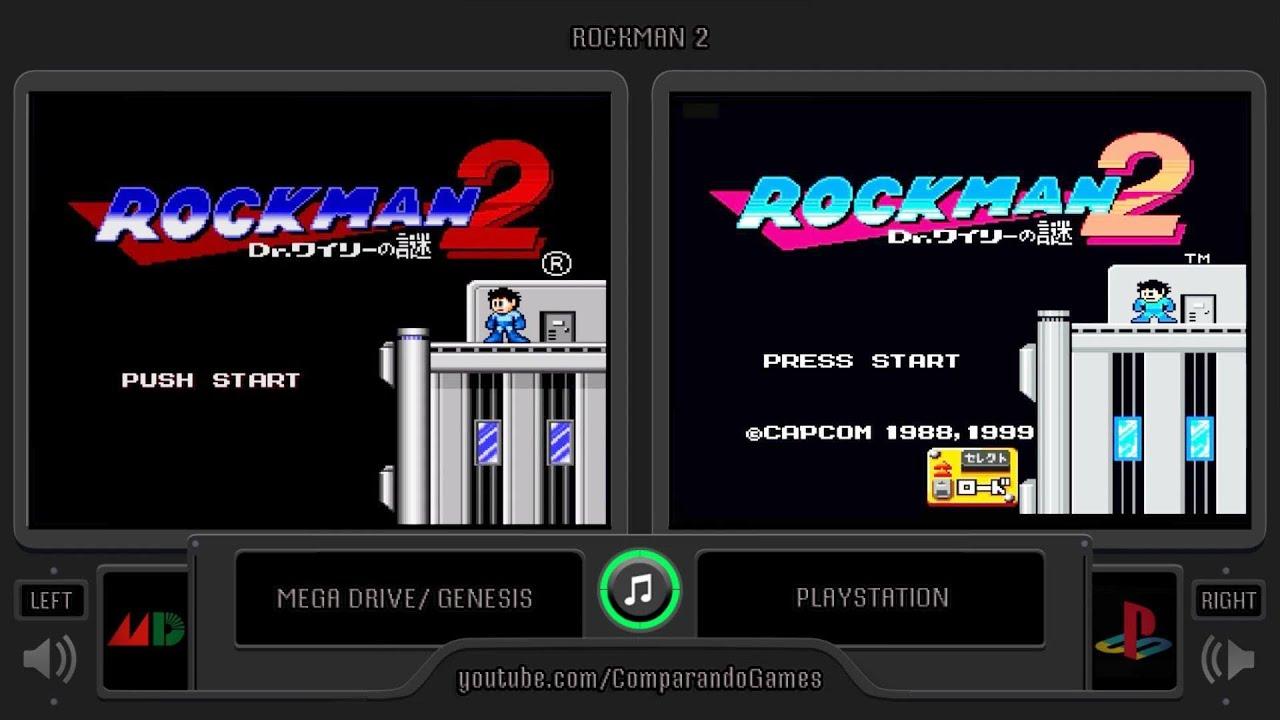 Rockman 2 Mega Drive Vs Playstation Side By Side