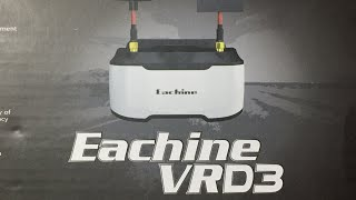 Eachine VR D3 FPV Goggles 3 Inch 5.8G 40CH Diversity Object Distance Adjustable DVR Review