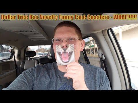 Dollar Tree Has Novelty Funny Face Coasters  -  WHAT????
