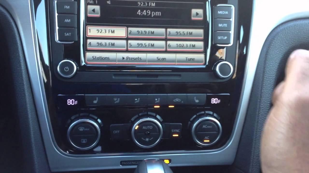 2012 Vw Passat Auto Recirculation Youtube