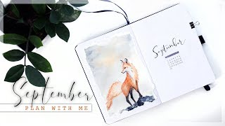 SEPTEMBER 2019 Plan With Me // Bullet Journal Monthly Setup