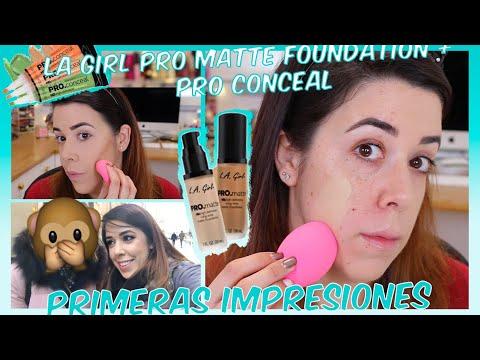 LA GIRL PRO MATTE FOUNDATION + PRO CONCEALER | PONIENDO A PRUEBA + SWATCHES
