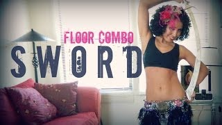 Sword belly dancing: floor work combination