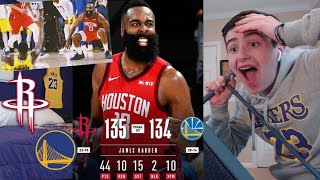 HAHAHAHA!! WARRIORS HATER REACTS TO ROCKETS WARRIORS! HARDEN GAME WINNER!! RANT