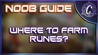 novice noob guide where to farm runes