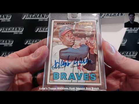 Luke's Topps Archives Baseball Post Season Box Break