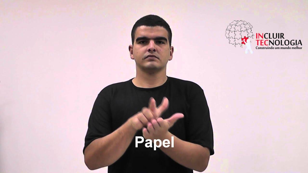 Sinais de banheiro em libras : Libras papel