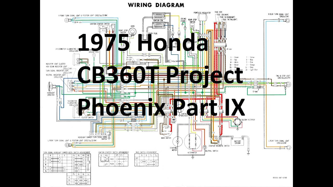 1975 Honda CB360T Project Phoenix Part IX - Wiring & Electrical - YouTubeYouTube