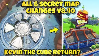 *NEW* ALL FORTNITE SECRET MAP CHANGES v8.40! LOOT LAKE BUNKER DOOR + HIDDEN BASEMENTS! Fortnite BR