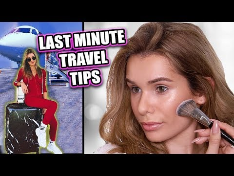 GRWM AIRPORT TRAVEL ROUTINE! Makeup, Outfit, & Carry on