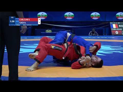 Round 1 Men's GP Gi - 100 kg: V. CUBLESAN (ROU) v. A. ISAEV (RUS)