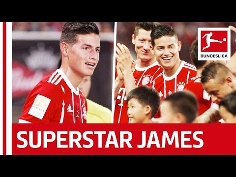 James Rodriguez in China with FC Bayern München