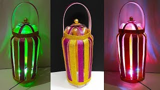 DIY-Lantern/Tealight Holder from Plastic Bottles | Plastic bottle ka lantern/kandil Banane ka Tarika