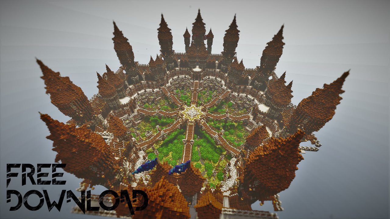minecraft big lobby map download
