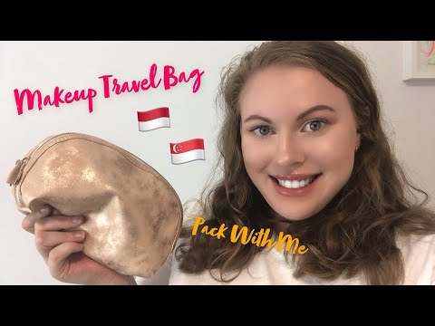 WHATS IN MY TRAVEL MAKEUP BAG?   Pack with me! thumbnail