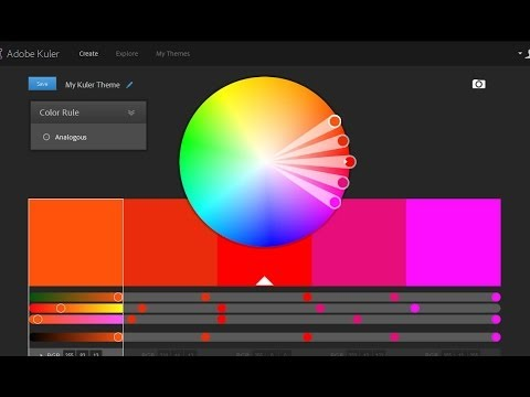 Adobe Kuler Color Wheel Color Scheme Youtube