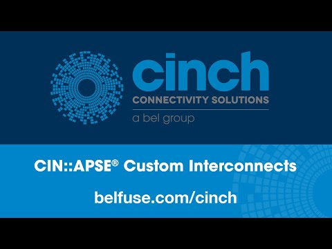 Cinch Connectivity Solutions CIN::APSE Solderless, High Density, Custom Interconnects