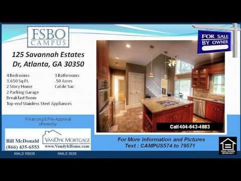 4 Bedroom House for Sale near Dunwoody Springs Elementary School in Atlanta GA