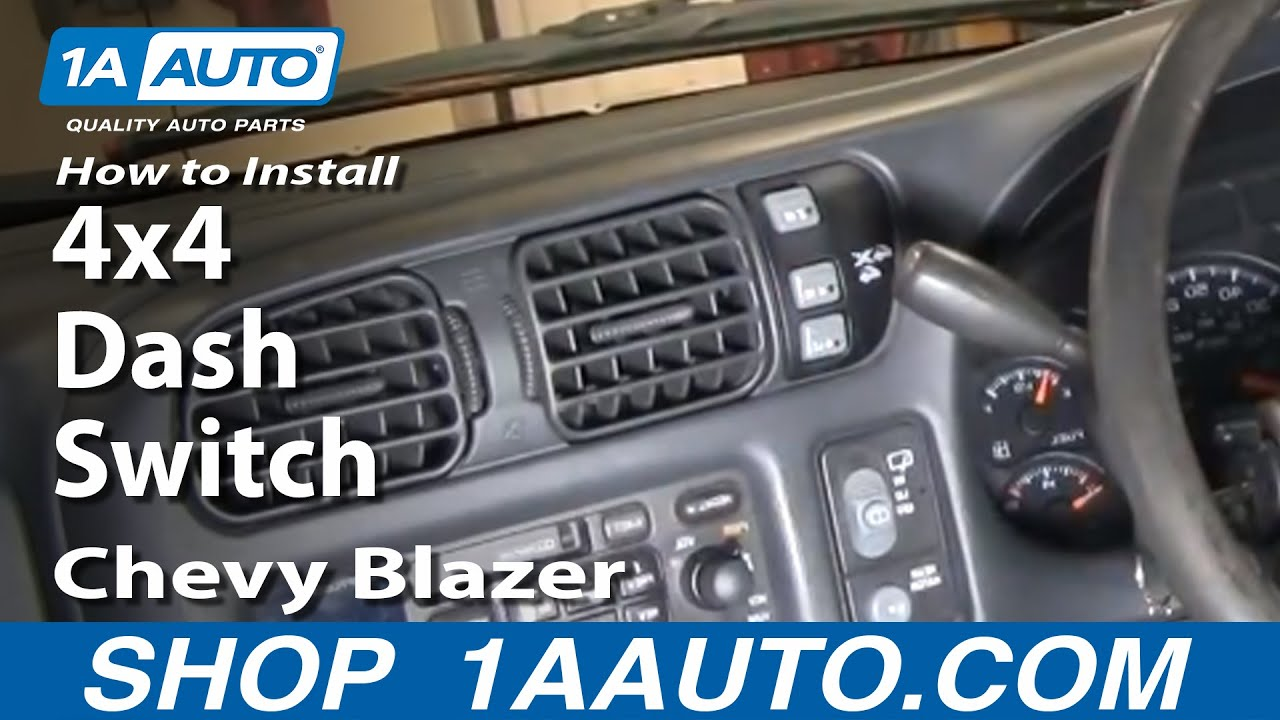 how to install replace 4x4 dash switch chevy s10 blazer