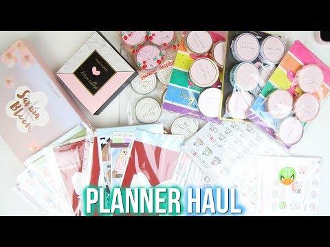Planner Haul | Rose Colored Daze, Fox & Cactus, Glam Planner & More