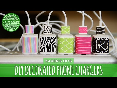 DIY Decorated Phone Chargers - HGTV Handmade