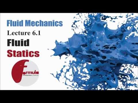 Fluid Mechanics Lec 6.1 ( Fluid Statics ) Introduction and hydrostatics Pressure