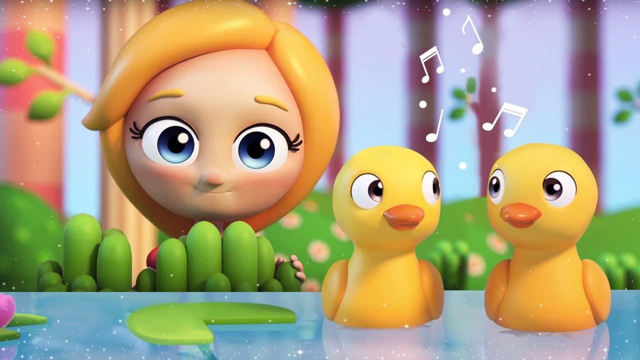 Веселые песенки для малышей - 5 утят. Музыкальные мультики Сина и Ло